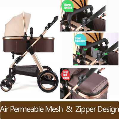 Baby Stroller Pram 4 IN 1 Newborn Baby Jogger Foldable Pushchair Travel Carriage