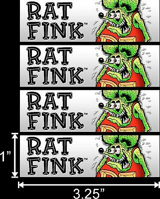 4 Pk Rat Fink Helmet Dash Rat Rod Hot Rod Muscle Car Vintage Performance Sticker