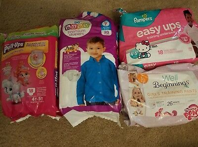 Huggies, Pampers, My Little Pony Pull Ups, Size 7 Diapers
