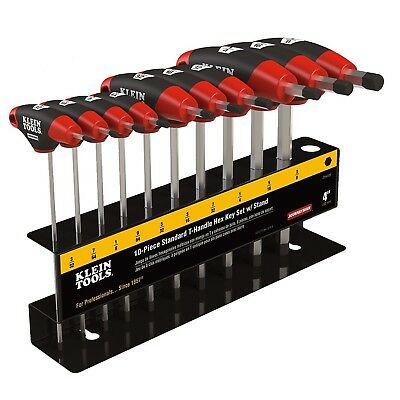 Klein Tools Sae Inch T Handle Hex Key 10 Piece Keys Set Wrench Hand Tool Stand