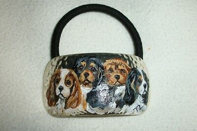 Hand Painted Cavalier King Charles Spaniel Pony Tail holder
