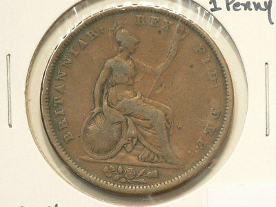 1834 Great Britain Penny KM#707 Bronze  #1227