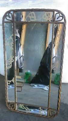 Vintage metal wall mirror