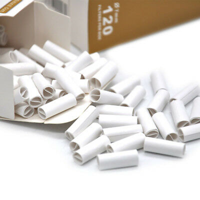 120 X HORNET 7MM Natural Unrefined Pre-Rolled Tips Cigarette Filter Tips White