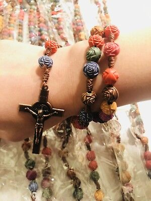 Wholesale Lots 12pcs Religion Rosary Wood Long Necklace fast shipping