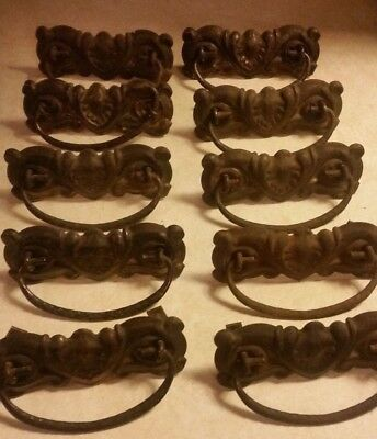 Antique Drawer Pulls - Lot of 10 - Circa 1890's