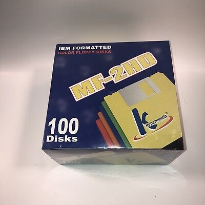 (B2) 100 K HyperMedia MF-2HD IBM Formatted Floppy Diskettes