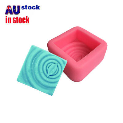 Square Leaf Silicone Soap Molds Soap Making Molds Craft Art Resin Mould Tool S4