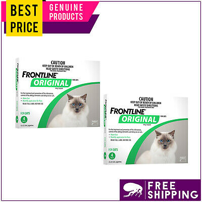 FRONTLINE ORIGINAL for Kittens and Cats 8 Doses (4 Pack X 2) GREEN by Merial