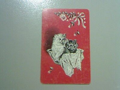 1 Swap/Playing Card - Cute Cats in a Basket