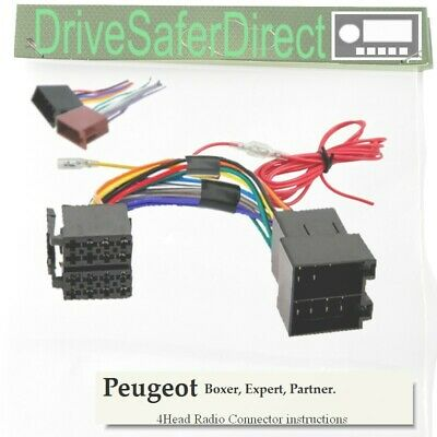 4-Head-6001-11J Head Unit Cable,ISO-JOIN for Xtrons Stereo/Peugeot Partner