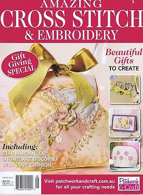 Embroidery Cross Stitch Magazine Crazy Patchwork Bag Baby Tea Cosy Gift Pattern
