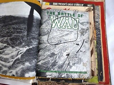 Estate Large Folio Collection of AIF WW2 Magazines Booklets PNG Australian ANZAC