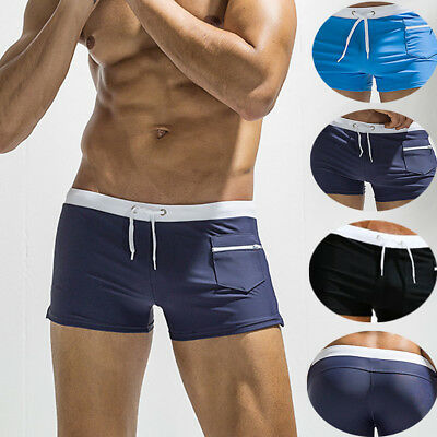 0ed84f2d7c7 Mens Swim Fitted Shorts Bodybuilding Workout Gym Running Tight Lifting Shorts  US