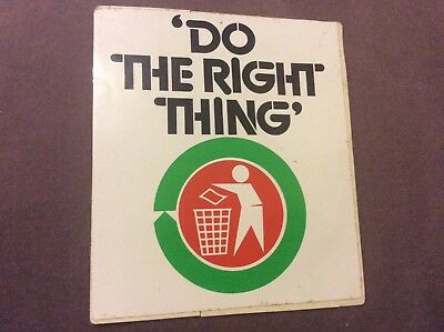 Vintage Sticker - Do The Right Thing