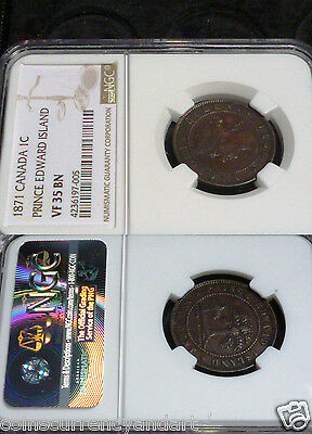 Canada PRINCE EDWARD ISLAND Cent KM# 4    1871 (PLS SEE DESCRIPTION FOR AXIS)