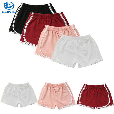 UK Stock Children Baby Boy Girl Cotton Pants Casual Bloomers Panties Shorts