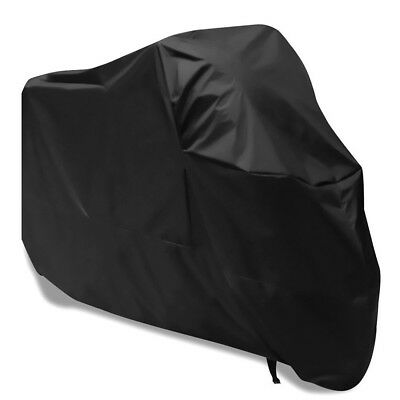 Motorcycle Cover XXL Waterproof Outdoor Rain UV Protector Motorbike Black
