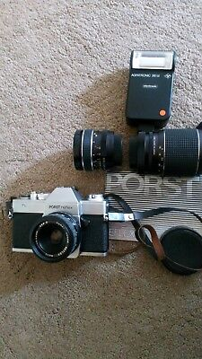 A German Porst colour Reflex camera with all attachments excellent condition