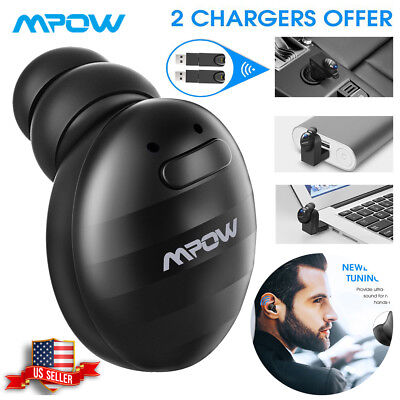 MPOW Mini Wireless Bluetooth Earbud Single Invisible Headphone Stereo Headset US