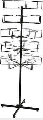 5 Tier Rotating Hat Rock Holder Stand Revolving Shop Display Unit Spinner