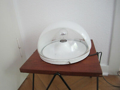 60er 70er Lampe Diskus 60s 70s glass wall lamp sconce space age ufo staff era