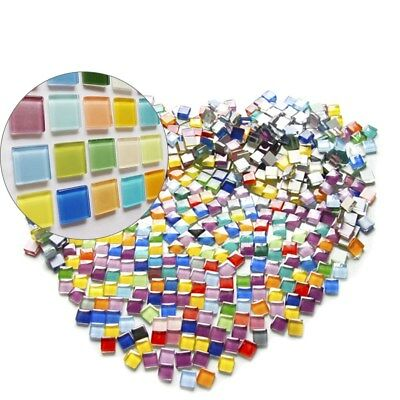10mm 600g Colorful Mosaic Tiles Square Mosaic Supplies for DIY Arts & Crafts