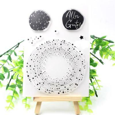 Stars Transparent Clear Silicone Stamp Seal scrapbooking Paper Cards Crafts DIY