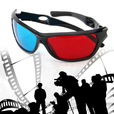 1pcs Red Blue 3D Glasses Frame for Dimensional Anaglyph Movie DVD Game Hot Sale