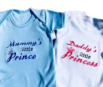 Personalised Baby Name Vest,outfit,bodysuit Prince/princess Newborn Unique Gift