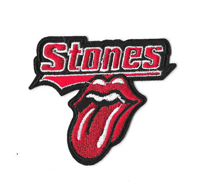 ROLLING STONES TONGUE Iron on / Sew on Patch Embroidered Badge Music Band PT398