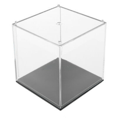 7x7x7cm Acrylic Model Protection Display Case with Plastic Base