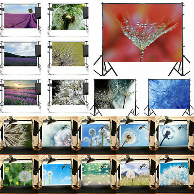 UK 3x5ft 5x7ft Kids Adult Lavender Photography Backdrop Background Photo Props