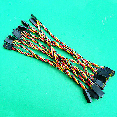 10 x 15cm male to female Servo Extension Extend Lead 22AWG Wire cable