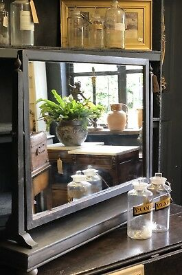 Antique Edwardian Large Dressing Table Mirror In Black