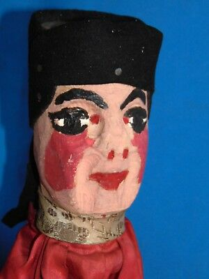AUTHENTIC  French  antique  Guignol WOOD  CARVED HANDPAINTED PUPPET  CASTELET 1