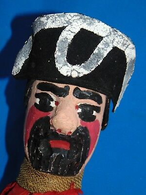 AUTHENTIC  French  antique  Guignol WOOD  CARVED HANDPAINTED PUPPET  CASTELET 3