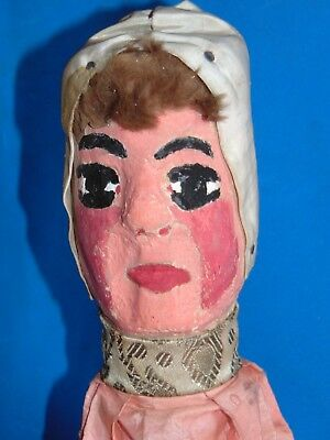 AUTHENTIC  French  antique  Guignol WOOD  CARVED HANDPAINTED PUPPET  CASTELET 4