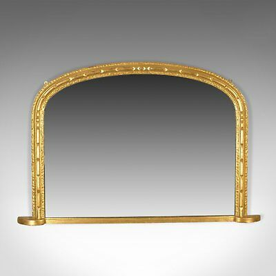 Antique Overmantel Mirror, English, Georgian Dome Top, Wall, Giltwood Circa 1800