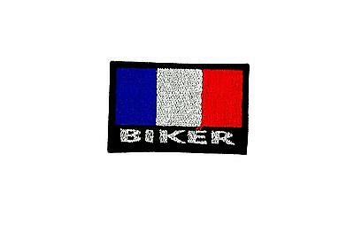 Patch ecusson brode backpack motard biker blouson drapeau france francais