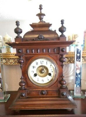 Antique mantle clock made by H.A.C. 14 day Strike early 1900's No 7134 German