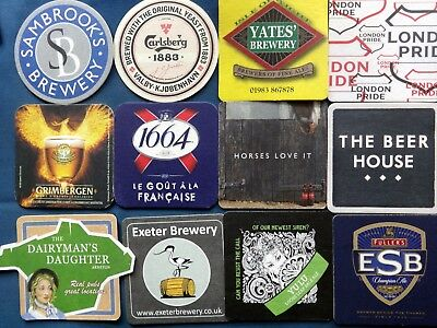 Collection of 12 interesting beer mats