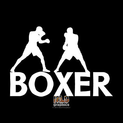 BOXER vinyl sticker decal Truck Car Computer Boxing Sparring Kick Sport MMA