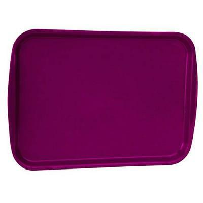 Vollrath - 1216-21 - 12 in x 17 in Burgundy Fast Food Tray