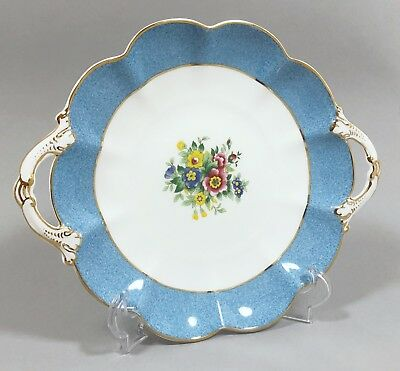 Crescent ware George Jones bone china 2-handle fluted biscuit tray dish gilt