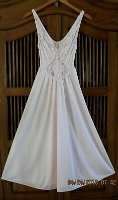 Vtg Olga Nightgown Soft Pink Grand Full Sweep Gown Lingerie Gown #91150 Medium