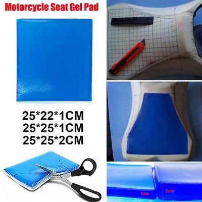 Motorcycle Seat Gel Pad Mat Comfortable Soft Elastic Cushion Blue 3 Size Option