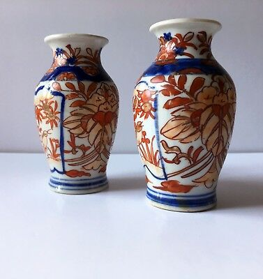A Small Pair Of Oriental Vases 850 Picclick Uk