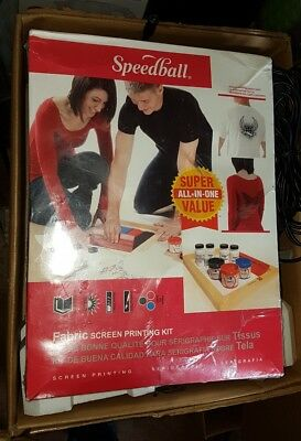 brand new and sealed Speedball Super Value Fabric Screen Printing Kit cheap 99p