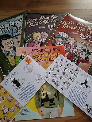 oor wullie the broons rare bundle sunday post.d c Thompson comics